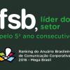 FSB: líder do setor no Anuário Brasileiro de Comunicação Corporativa